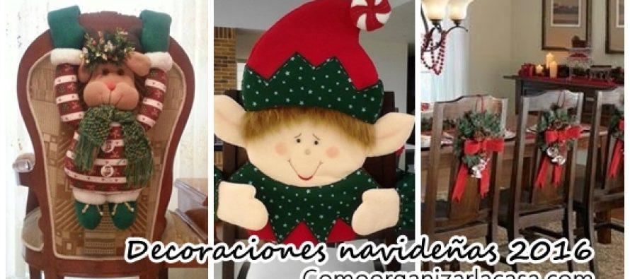 Decoración navideña 2016 para tus sillas del comedor