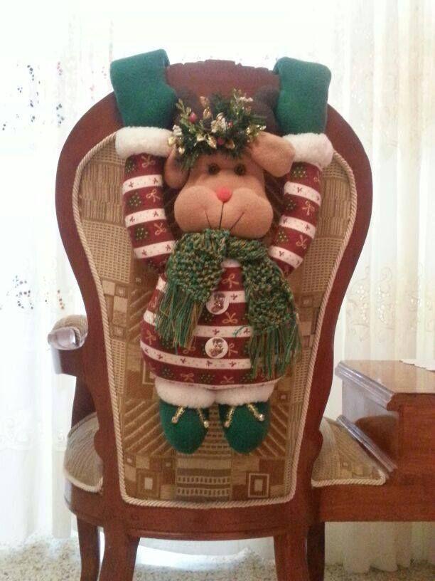 Decoracion navidena 2016 para tus sillas del comedor 4 for Sillas de comedor 2016