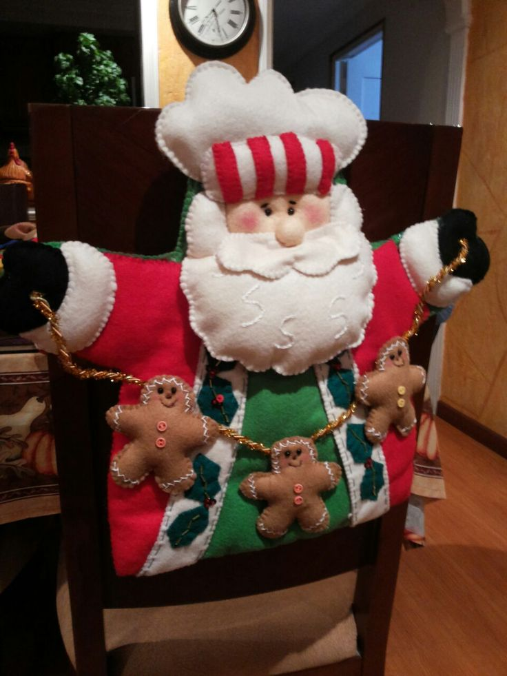 Decoracion navidena 2016 para tus sillas del comedor 6 for Sillas de comedor 2016