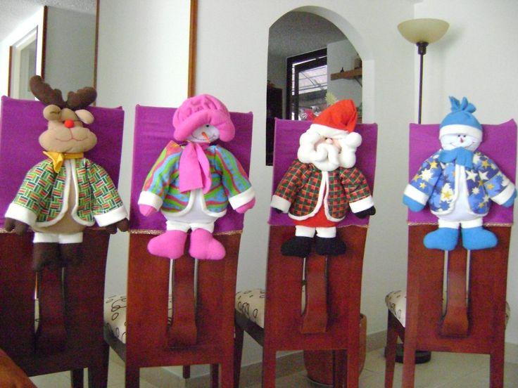 Decoracion navidena 2016 para tus sillas del comedor 9 for Sillas de comedor 2016