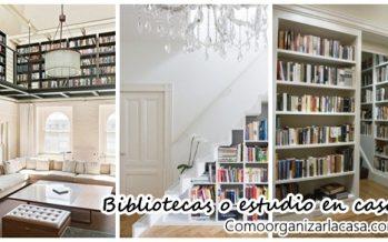 Decoración y organización de bibliotecas en casa