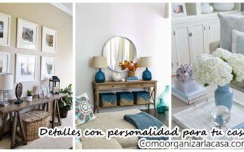 Elementos decorativos para darle personalidad a tu hogar