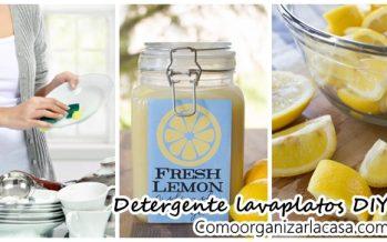 Detergente para platos lima fresca DIY
