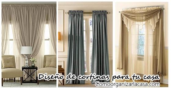Dise os de cortinas que realzan la belleza del hogar decoracion de interiores fachadas para - Cortinas de casa ...