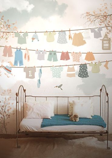 Habitaciones infantiles decoradas con papel tapiz 1 - Habitaciones infantiles decoradas ...