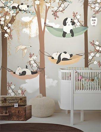 Habitaciones infantiles decoradas con papel tapiz 24 - Habitaciones infantiles decoradas ...