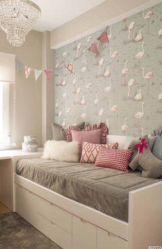 Habitaciones infantiles decoradas con papel tapiz 29 - Papel para habitaciones ...