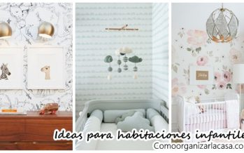Habitaciones infantiles decoradas con papel tapiz