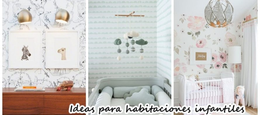 Habitaciones infantiles decoradas con papel tapiz curso - Habitaciones infantiles decoradas ...
