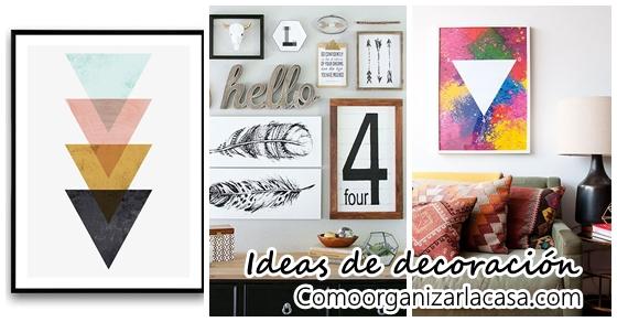 Ideas para acomodar tus cuadros decorativos Decoracion de