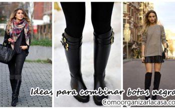 Ideas para combinar tus botas negras