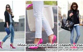 Ideas para combinar zapatos rosas