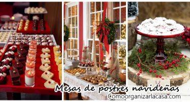 Ideas para montar una mesa de postres en navidad