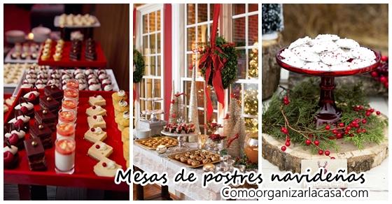 Ideas para montar una mesa de postres en navidad - Ideas para postres de navidad ...