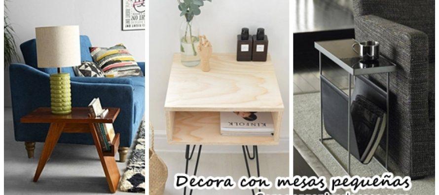 Ideas preciosas para decorar con mesas pequeñas