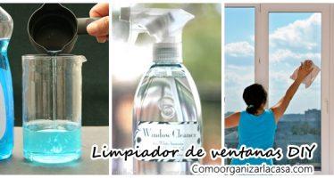 Limpiador de vidrios y ventanas DIY