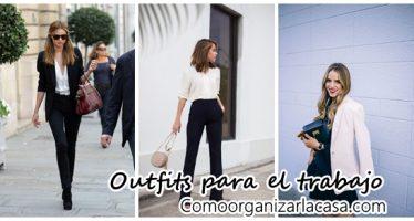 Outfits blanco con negro la combinación perfecta para el trabajo