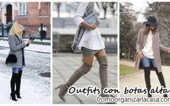 Outfits con botas altas