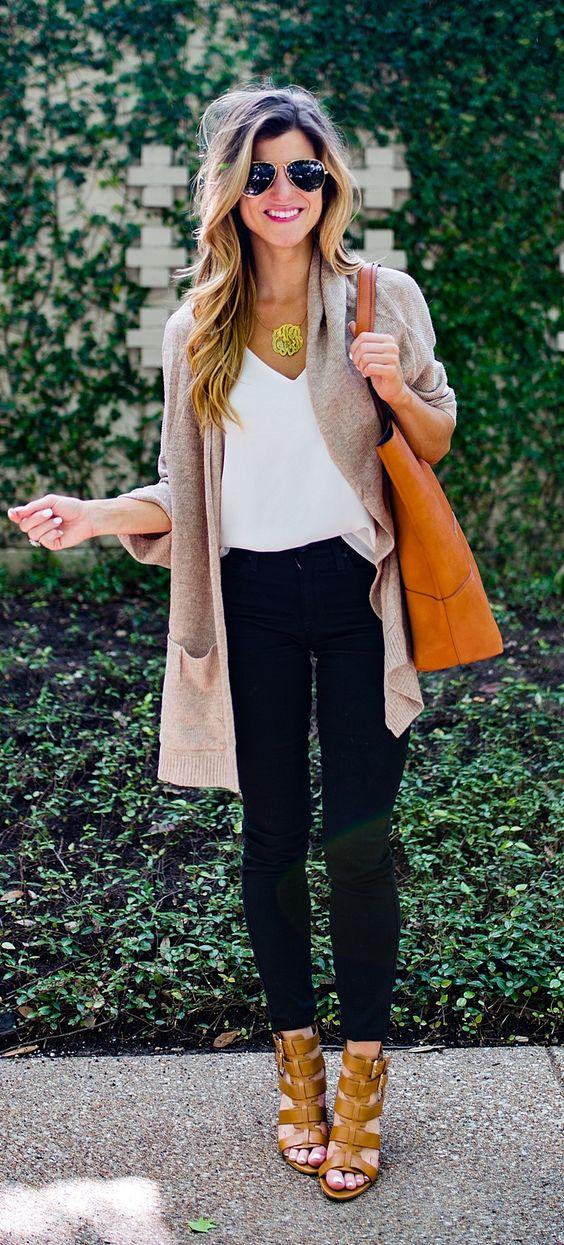 Outfits con cardigans y tacones que puedes usar este invierno 2019