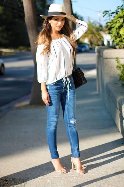 Outfits Con Jeans Y Blusas Off The Shoulder 28 Como