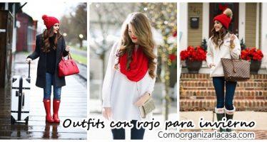 Outfits con rojo para tiempo de frío