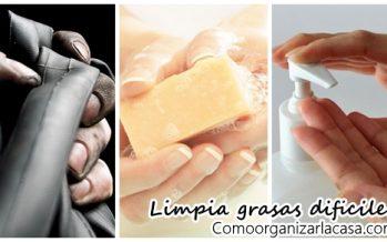 Receta casera para limpiar nuestras manos de grasa o aceite