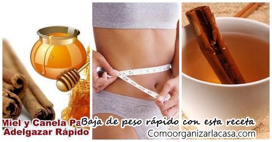 Receta de canela y miel para bajar de peso