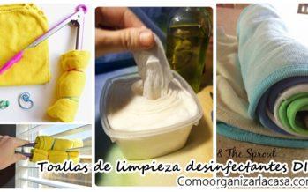 Toallitas desinfectantes para limpieza DIY