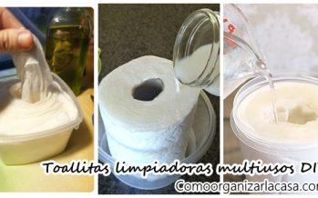 Toallitas limpiadoras multiusos DIY ¡Te van a encantar!