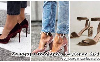 Zapatos con terciopelo la tendencia del invierno 2016