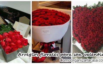 Arreglos florales ideales para San valentín
