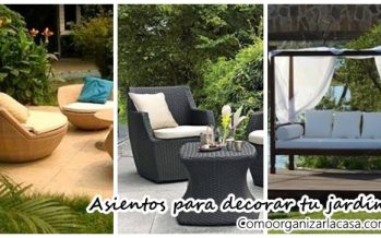 Asientos para decorar tu patio o jardín ¡Ideas que inspiran!