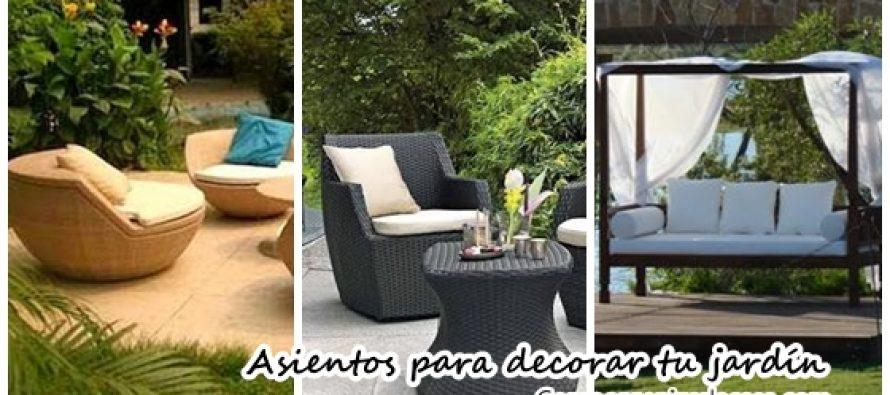 Asientos para decorar tu patio o jardín ¡Ideas que inspiran!
