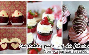 Cupcakes para 14 de febrero