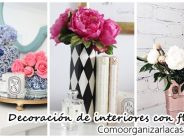 Decoración de interiores con floreros