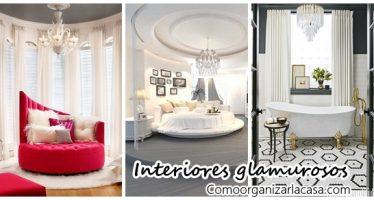 Decoración de interiores con toques glamurosos