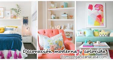 Decoración de interiores moderna y colorida