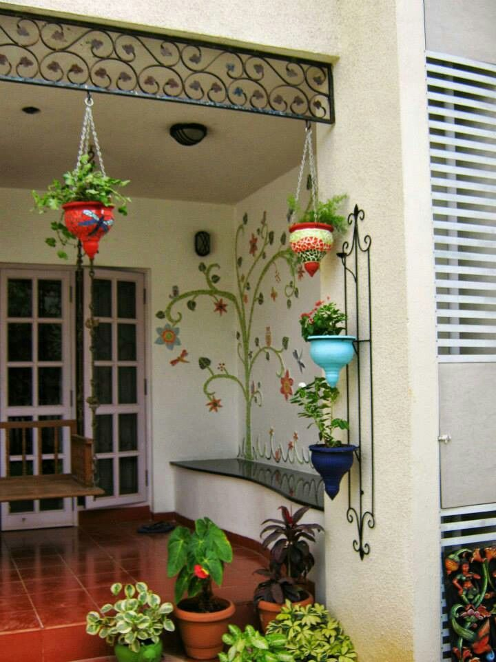 Decoraci n de jardines y patios 35 decoracion de for Balcony decoration ideas india