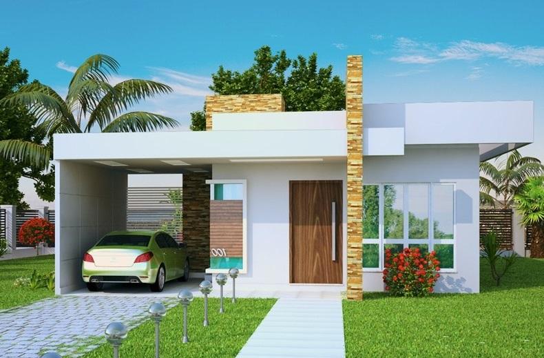Fachadas de casas sencillas 26 for Casas modernas sencillas