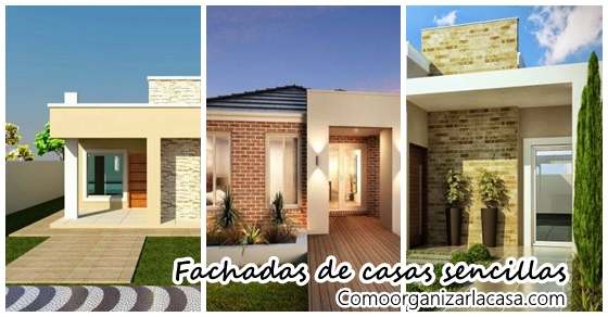 Fachadas de casas sencillas decoracion de interiores for Vivienda y decoracion online