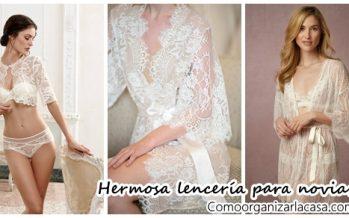 Hermosa lencería para novias