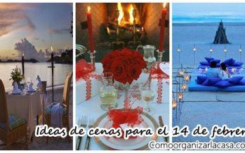 Ideas de cenas románticas para este 14 de febrero