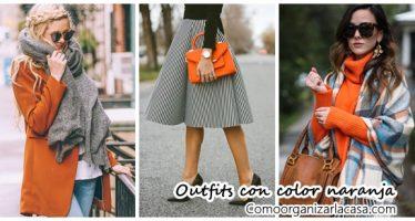 Ideas de outfits para combinar el color naranja
