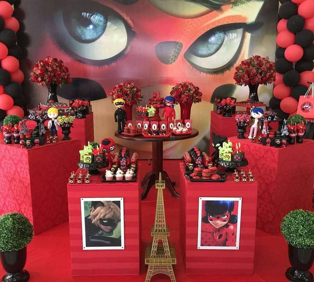 Ideas para decorar fiesta infantil de miraculous o ladybug - Casa para fiesta ...
