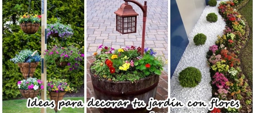 ideas para decorar tu jardn con flores with ideas para decorar un jardin