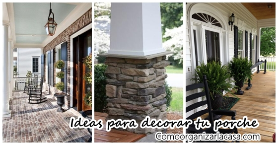 Ideas para decorar tu porche decoracion de interiores - Ideas para decorar porche entrada ...