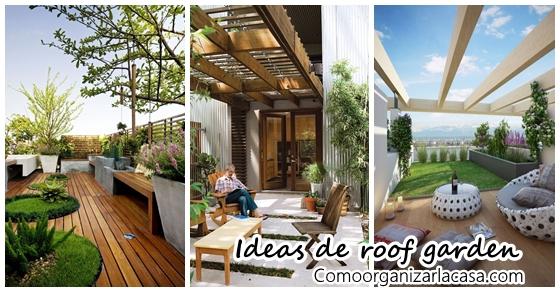 Ideas para montar un patio en el techo de tu casa for Adornos para patios de casas