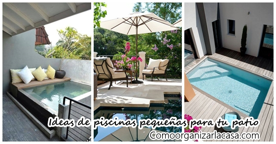Ideas para piscinas peque as en tu patio como organizar for Piscinas para patios muy pequenos