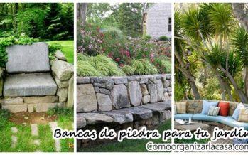 Increibles ideas de bancas hechas con piedra para tu jardín
