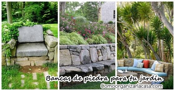 Increibles ideas de bancas hechas con piedra para tu for Poner piedras en el jardin